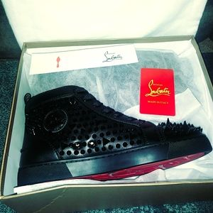 Christian Louboutin Spikes Leather Sneakers New